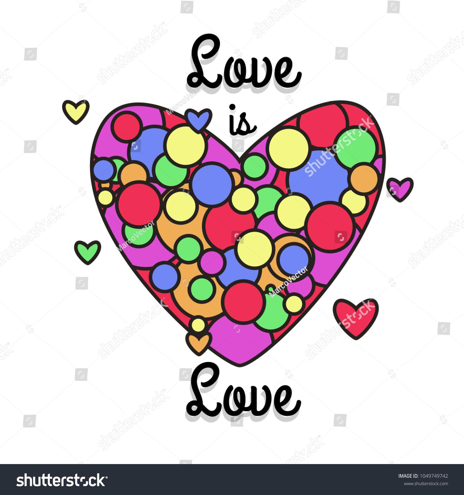 Lgbt rainbow heart symbol love modern stock vector 1049749742 lgbt rainbow heart symbol of love modern style flat vector illustration icons isolated on buycottarizona Images