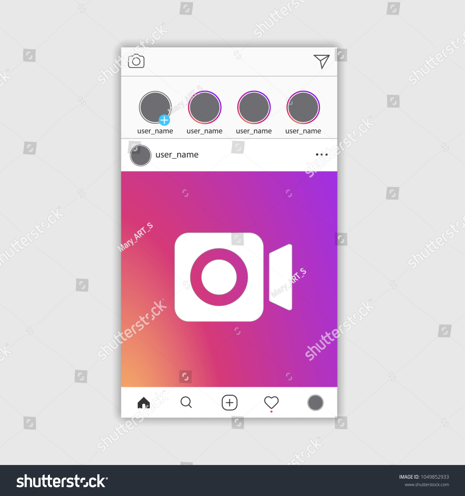 Social Media Instagram Video Frame EPS Stock Vector 1049852933 ...
