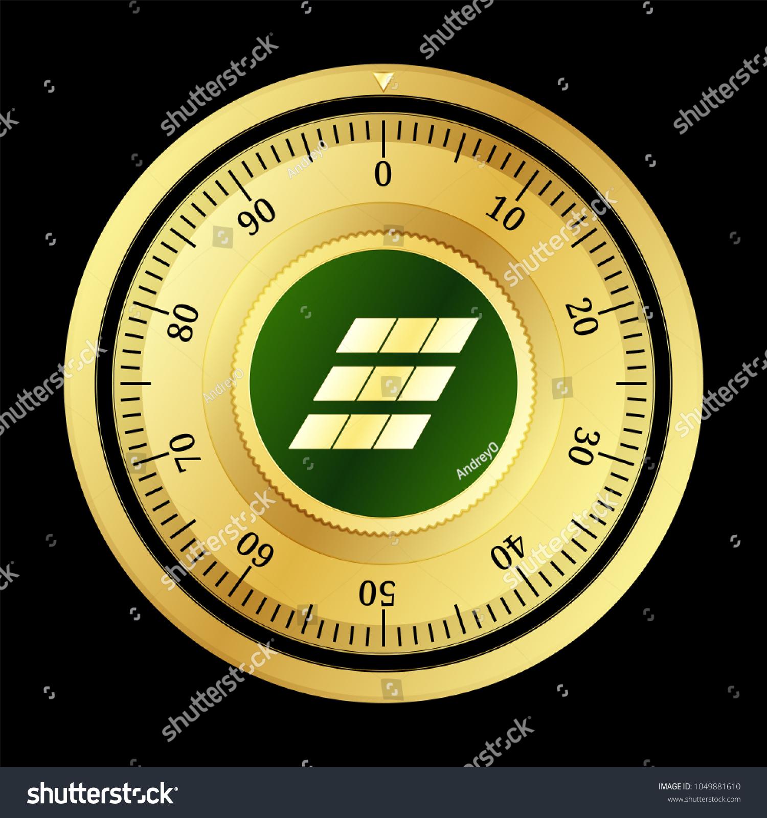 Einsteinium Emc 2 Cryptocurrency Safe Lock Eps 10 Stock Vector 2018