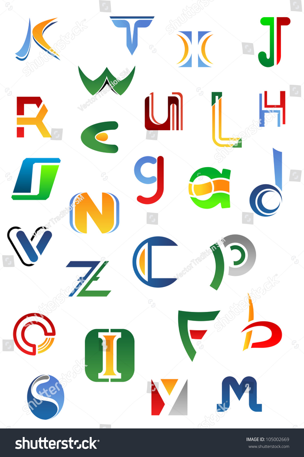 alphabet letters and icons from a to z for design such logo jpeg version also available in