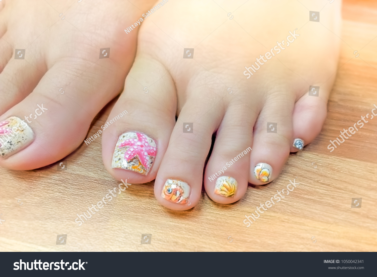 Close Colorful Nail Art Painting Design Stock Photo (Edit Now ...