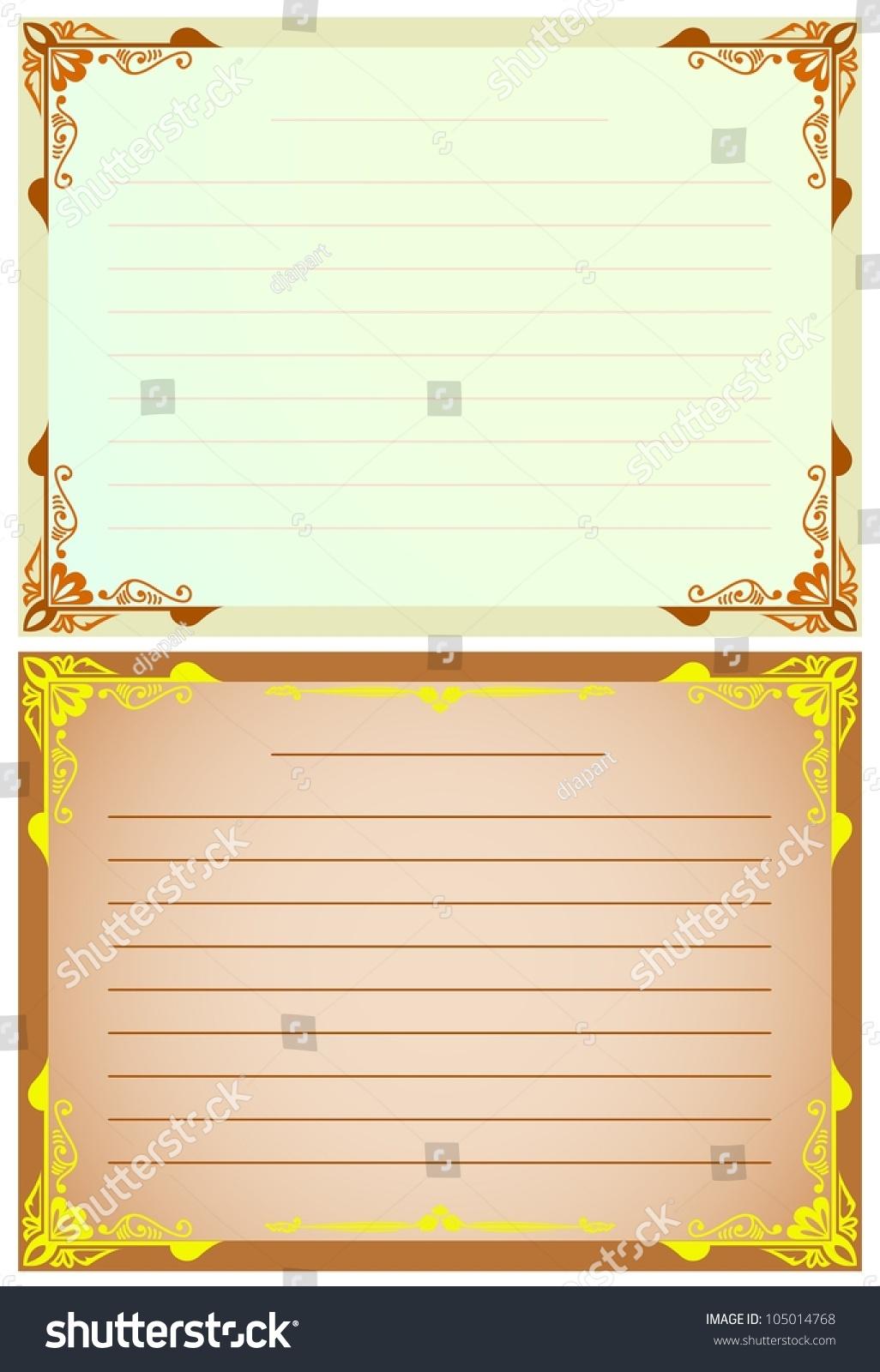 Blank Line Paper Border Ornament Stock Vector (2018) 105014768 ...