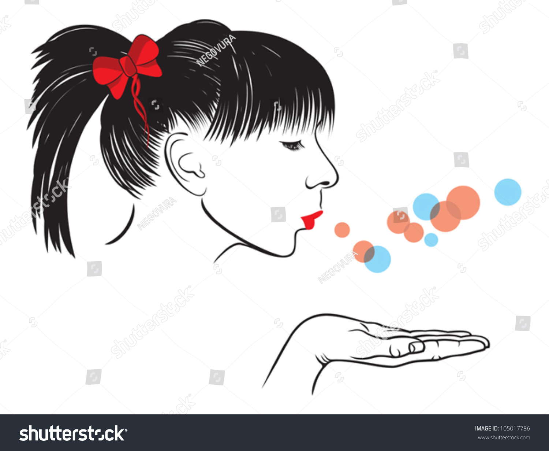 Female Faces Silhouette Stencil Template at www.milliande ...  Face Profile Silhouette Blowing