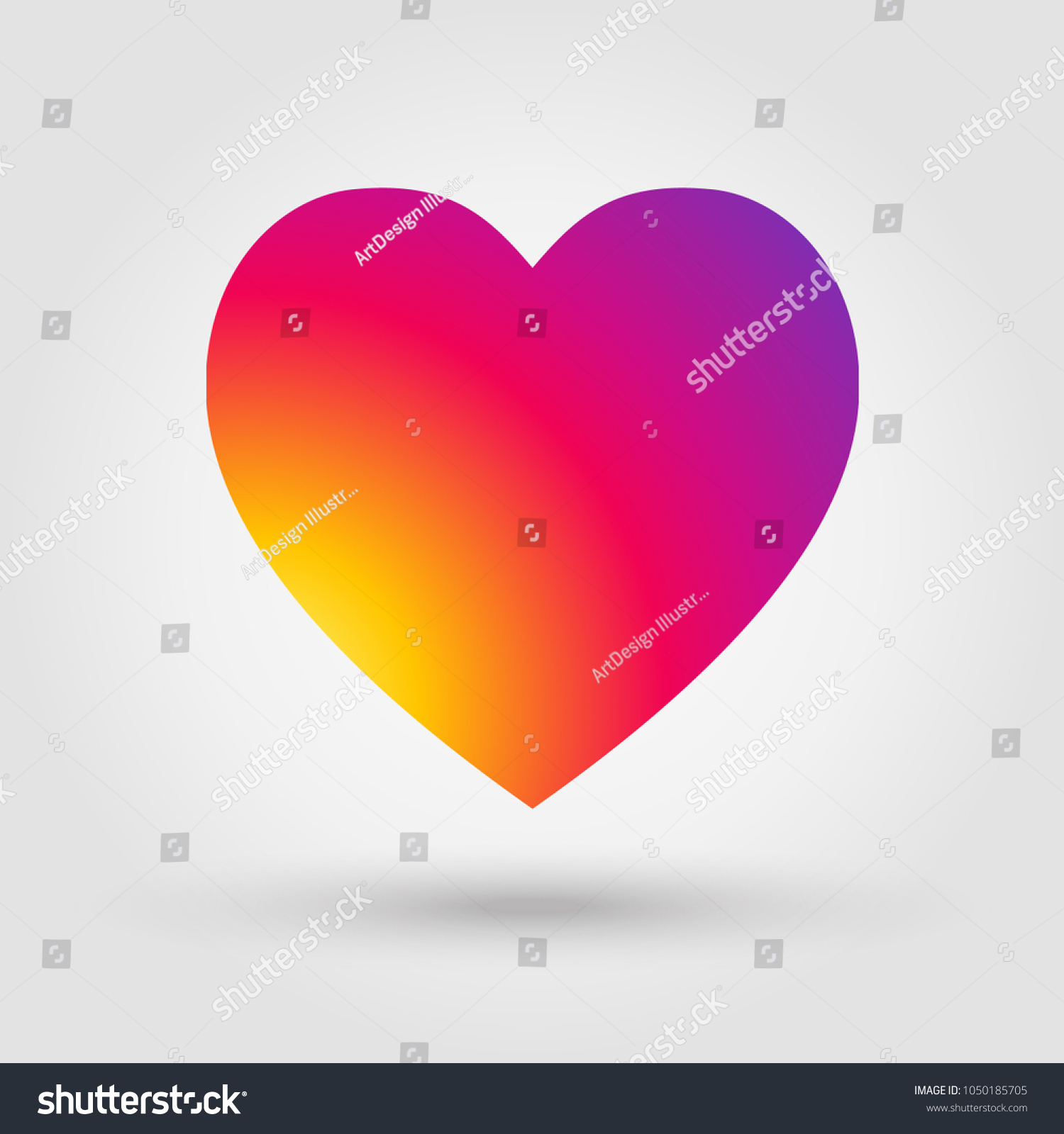 Heart Isolated Colorful Illustration Instagram Heart Stock