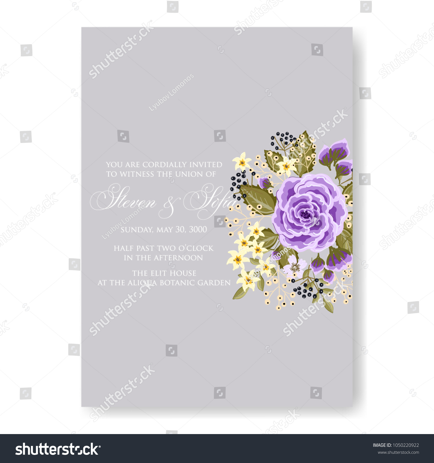 Floral Wedding Invitation Vector Template Marriage Stock Vector HD ...