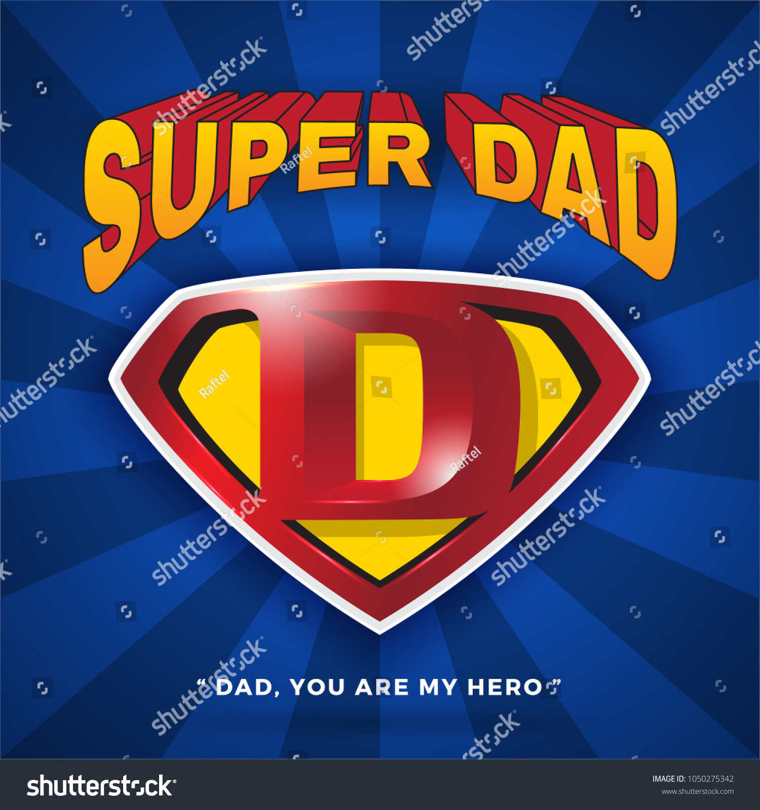 Super Dad Logo Design Fathers Day Stock Vector Royalty Free