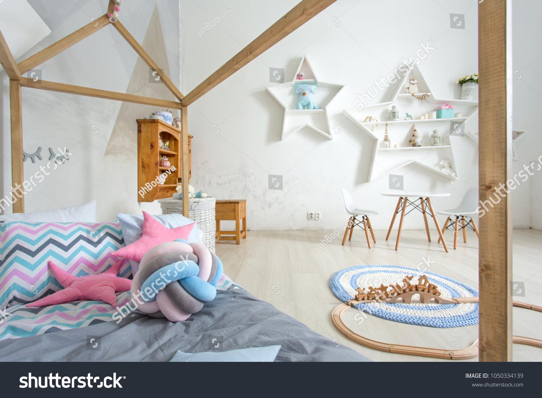 Photo Cosy Light Child Room Interior Stock Photo (Royalty Free ...