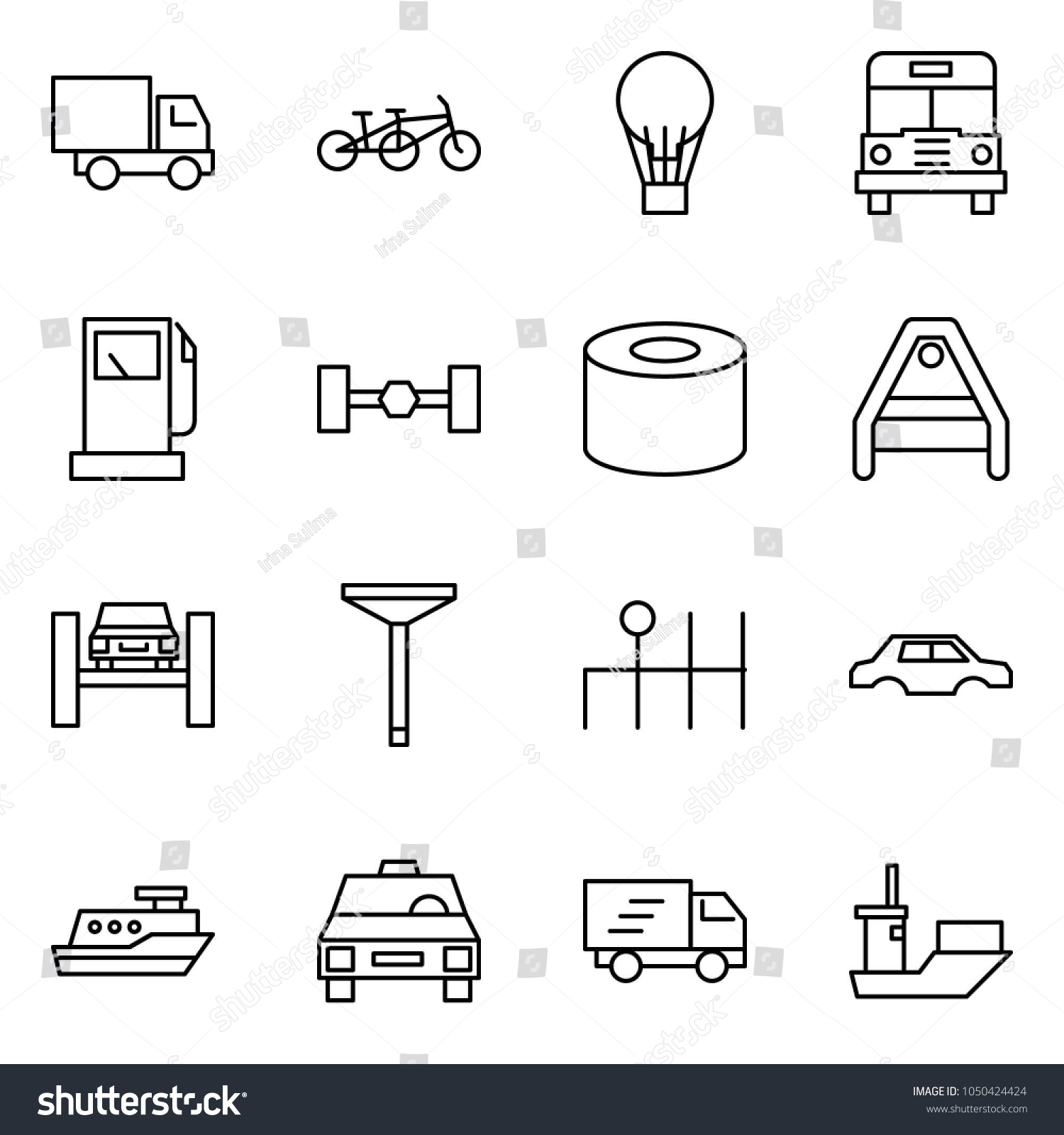 Flat vector icon set car delivery stock vector 1050424424 flat vector icon set car delivery vector tandem balloon school bus pooptronica Gallery