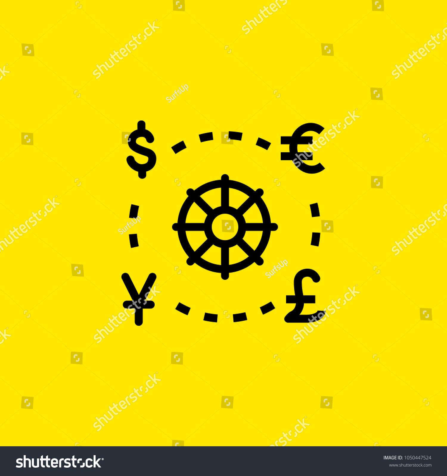 Icon world currencies money finance symbols stock vector 1050447524 icon of world currencies money finance symbols exchange concept can be buycottarizona Gallery