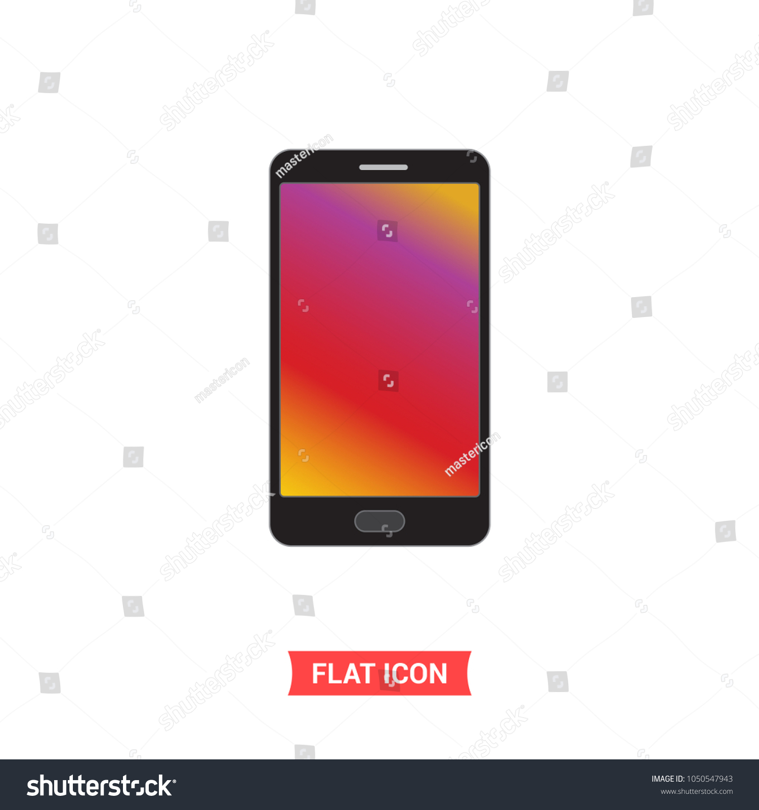 Samsung galaxy symbol icon gradient screen stock vector 1050547943 samsung galaxy symbol icon gradient screen smartphone vector simple flat design on white background buycottarizona Images