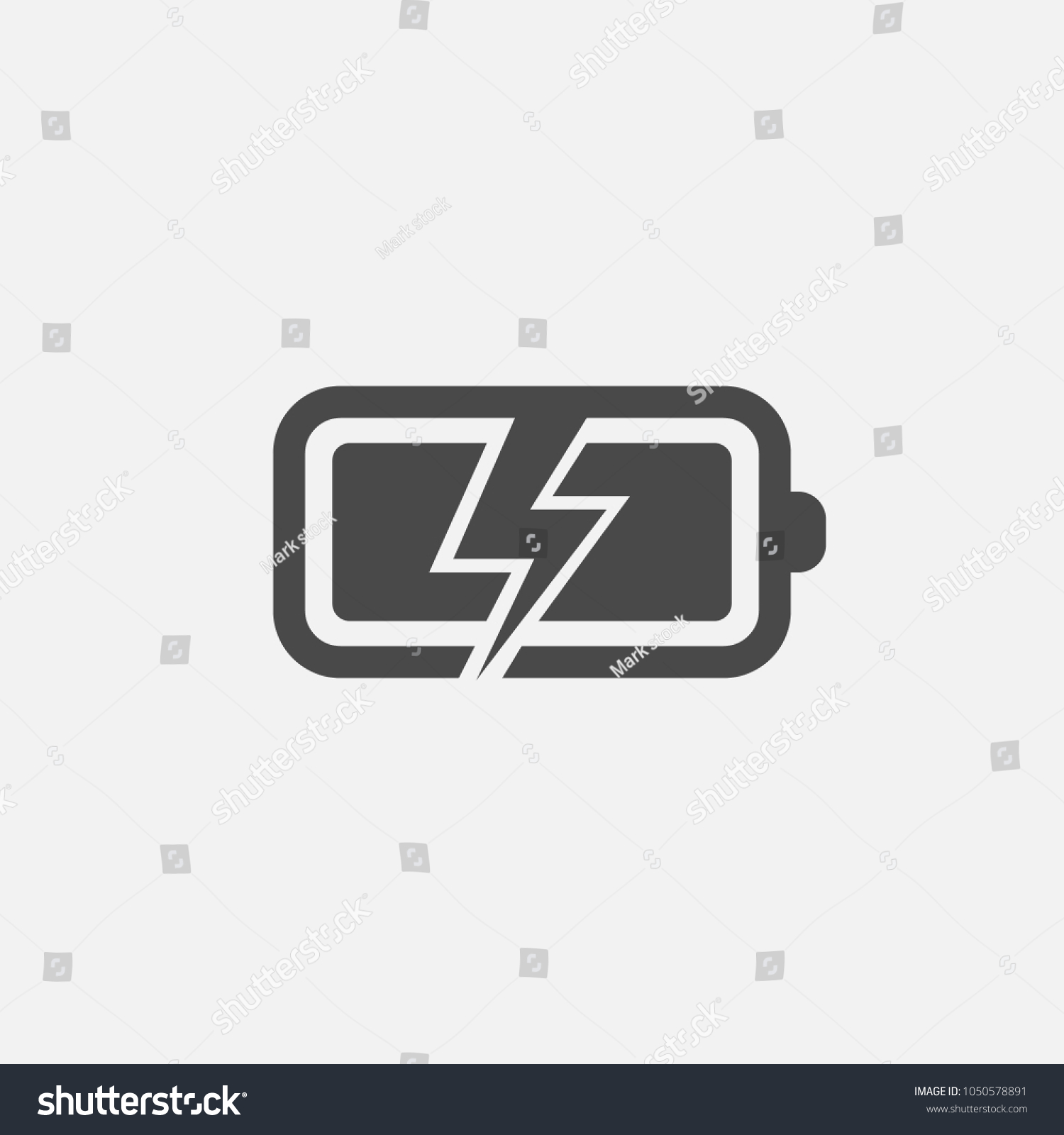 Battery Charging Icon Lightning Symbol Industrial Stock Vector ...