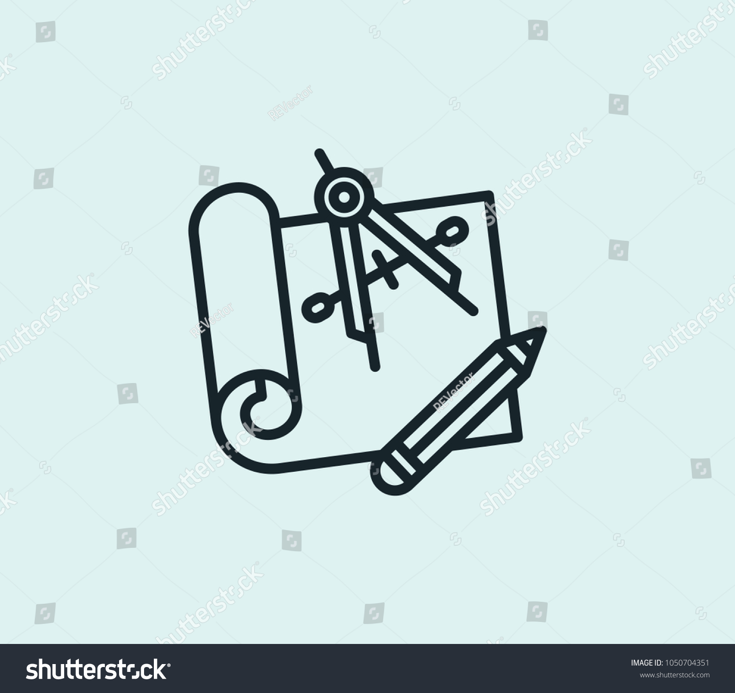Engineering blueprint icon line isolated on stock illustration engineering blueprint icon line isolated on clean background engineering blueprint icon concept drawing icon line malvernweather Images