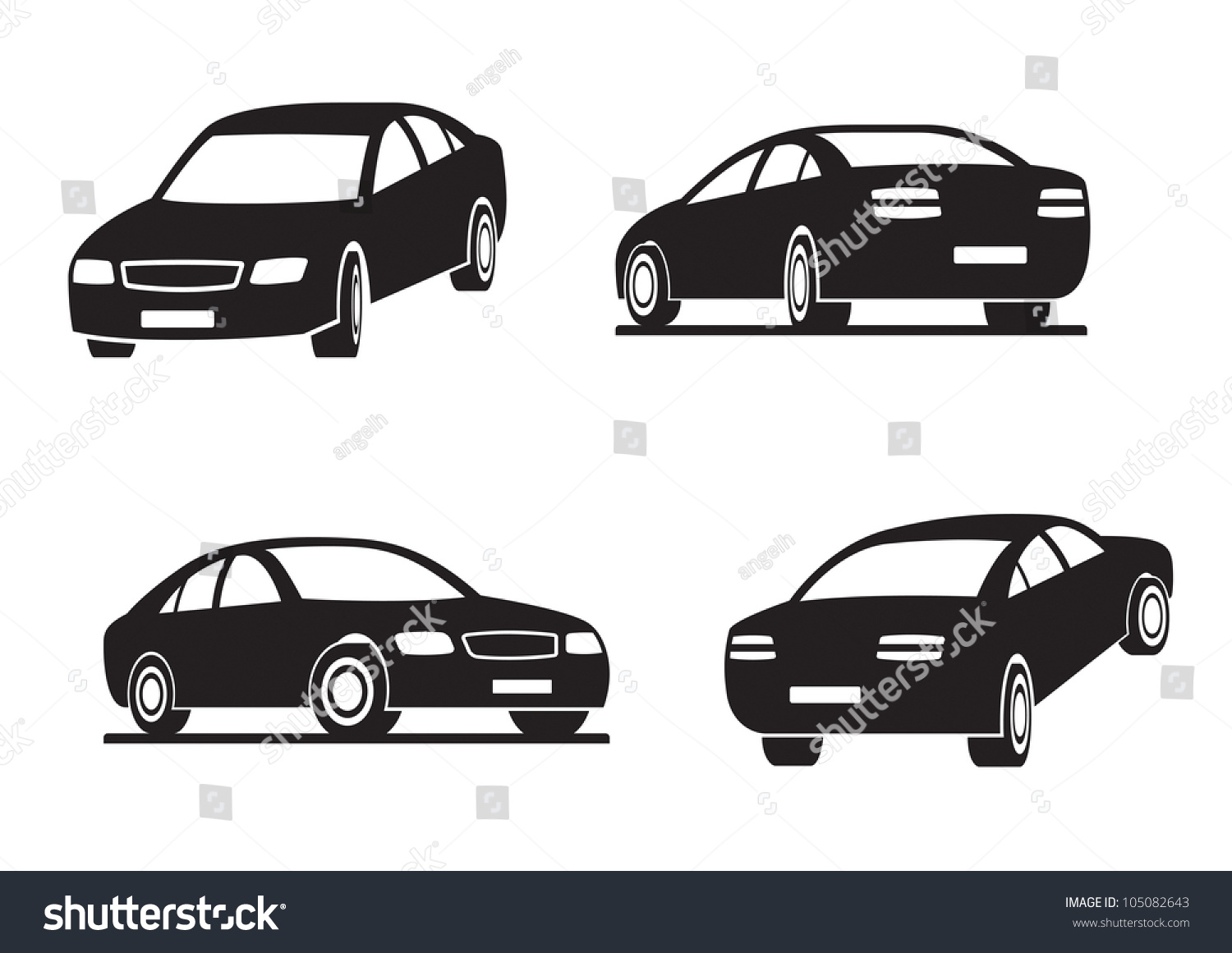 Cars Perspective Vector Illustration Stock Vector (Royalty Free ...