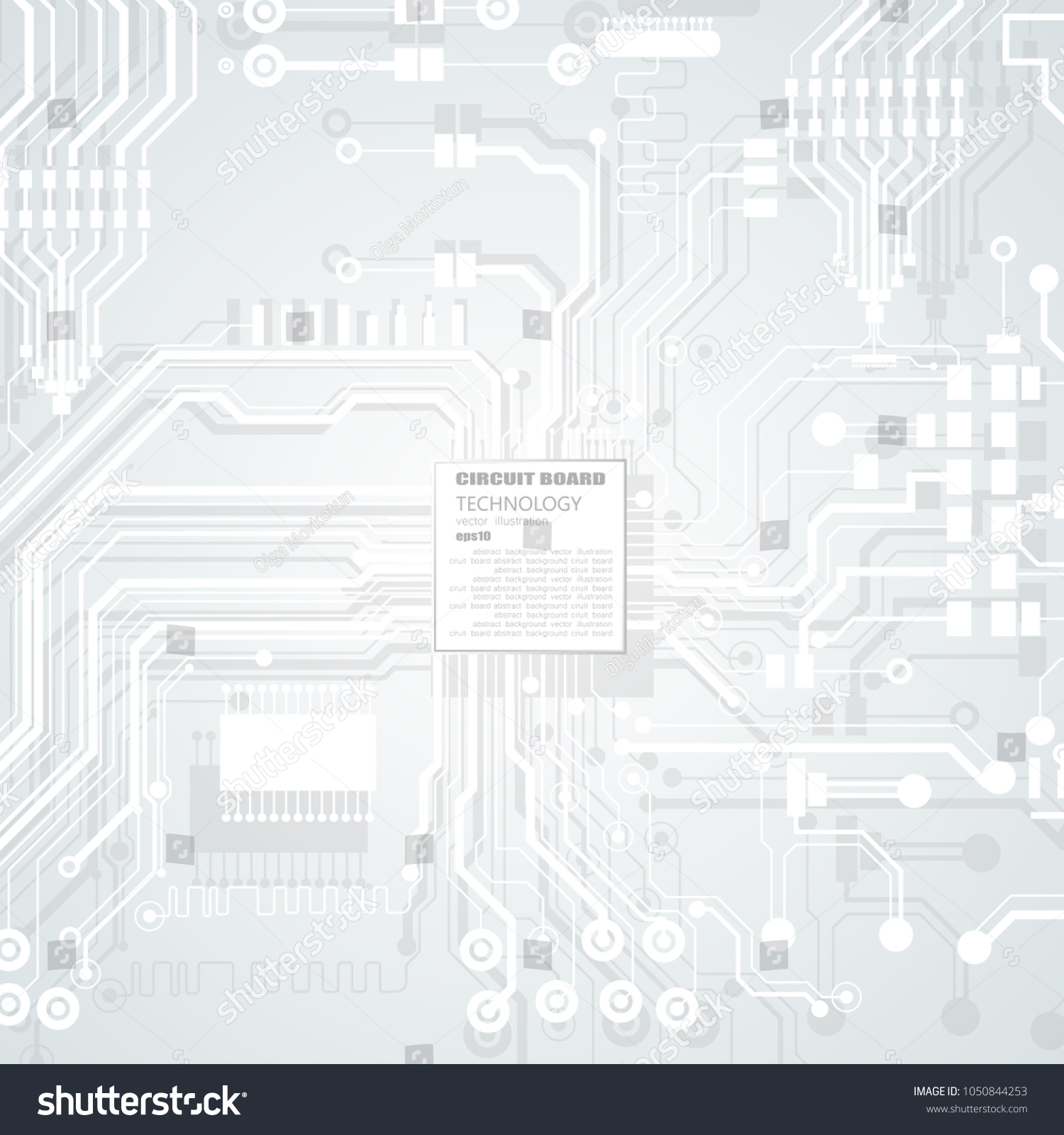 Vector Circuit Board Illustration Abstract Technology Stock