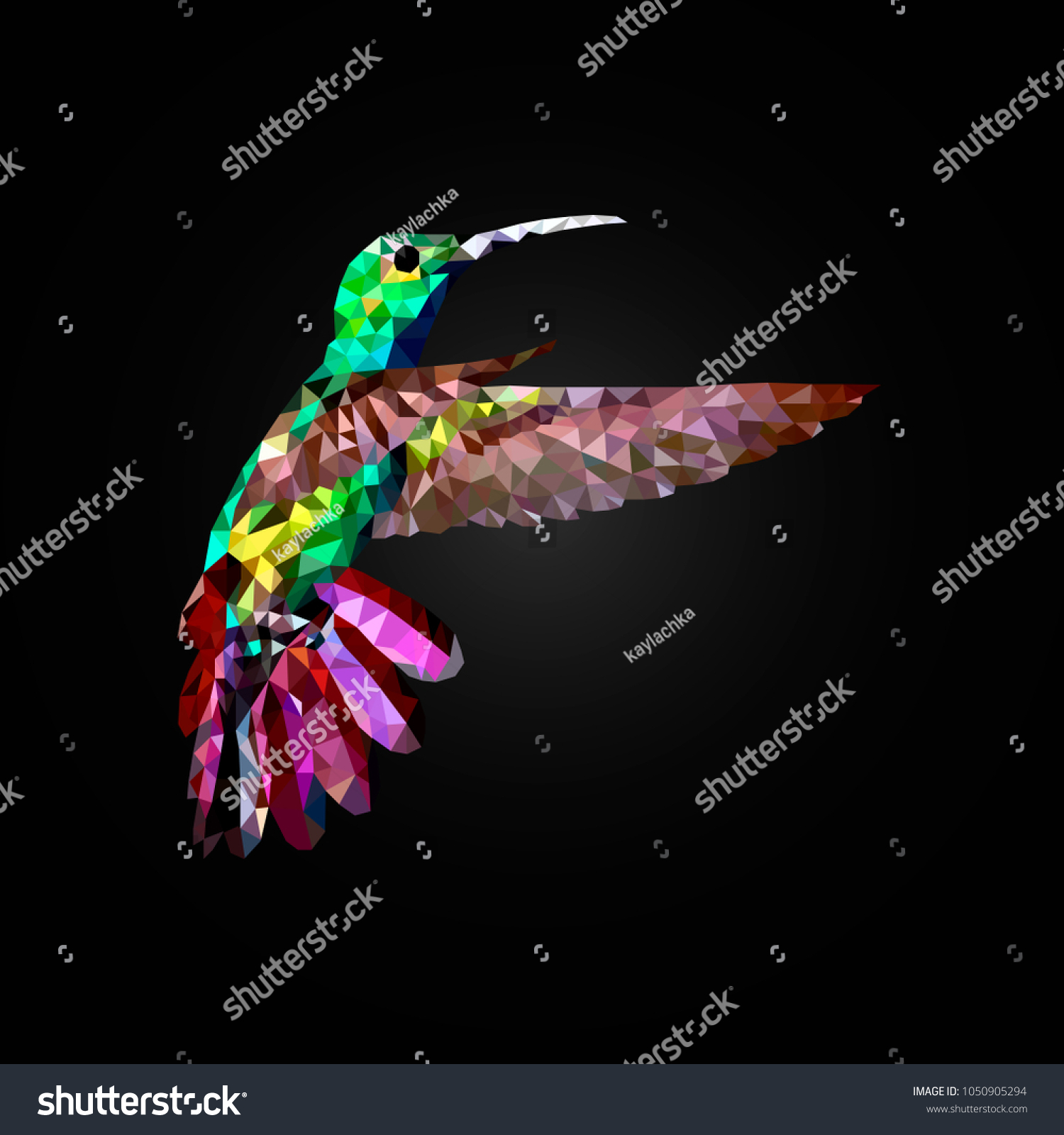 Hummingbird flower vector polygon geometricabstract bird stock hummingbird and flower vector polygon geometricabstract bird design symbol nature triangle graphic vector biocorpaavc Images