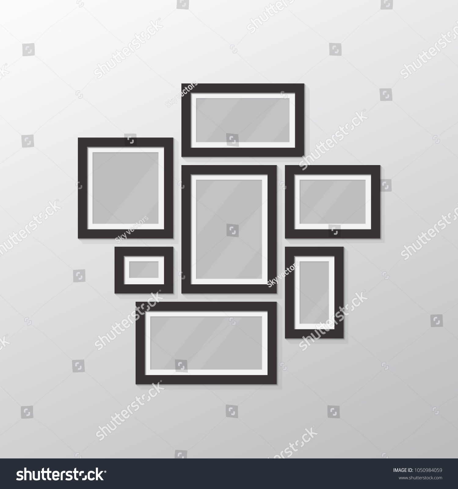 Photo Collage All Sizes Frames Template Stock Vector HD (Royalty ...