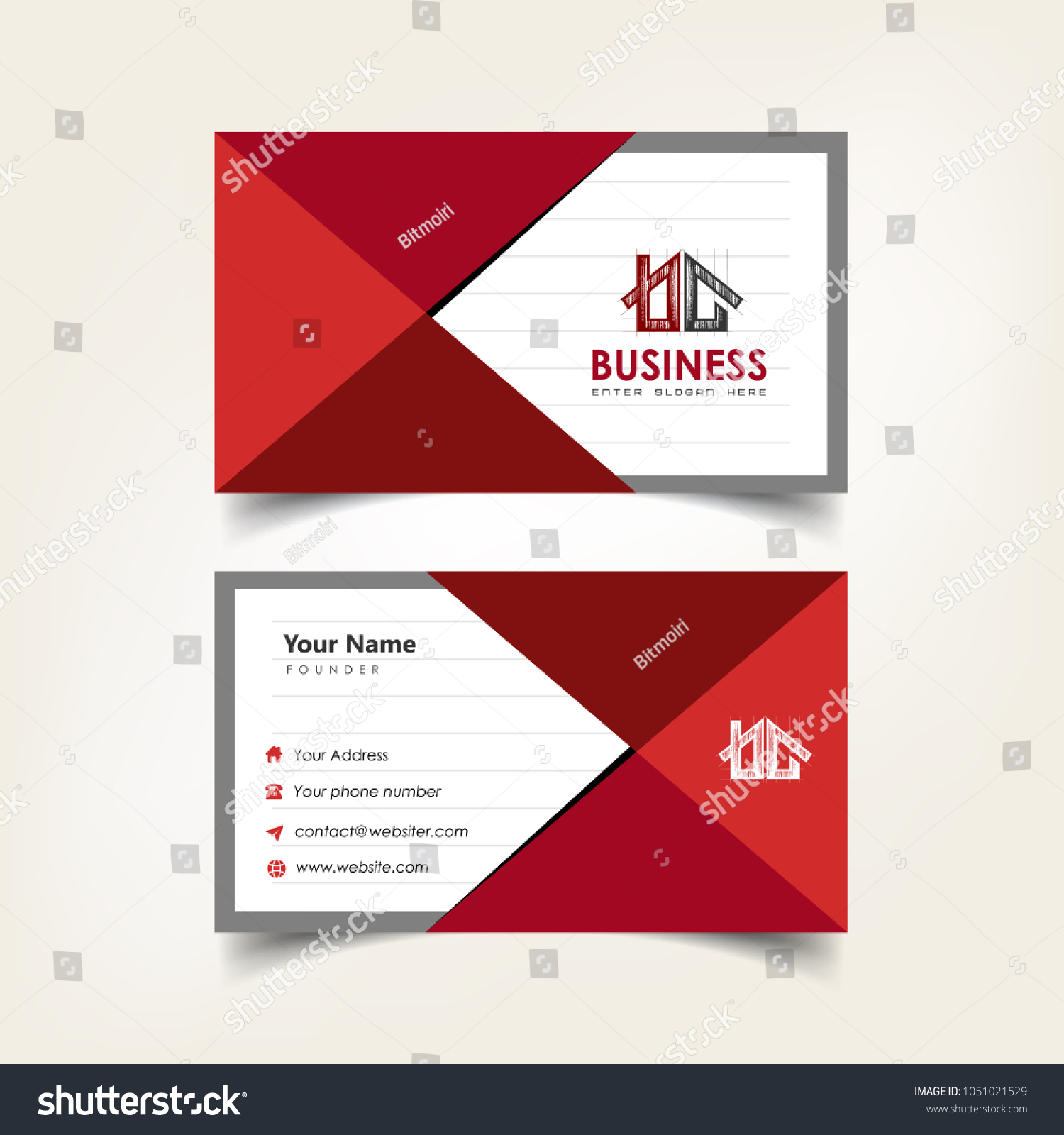 Simple Elegant Business Card Templates Notebook Stock Vector ...