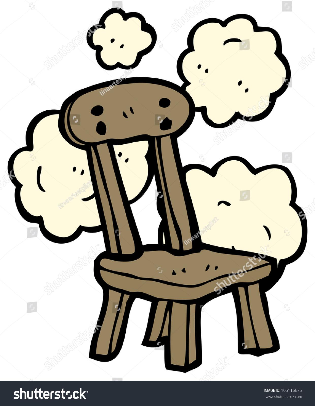 Cartoon wooden chair stock illustration