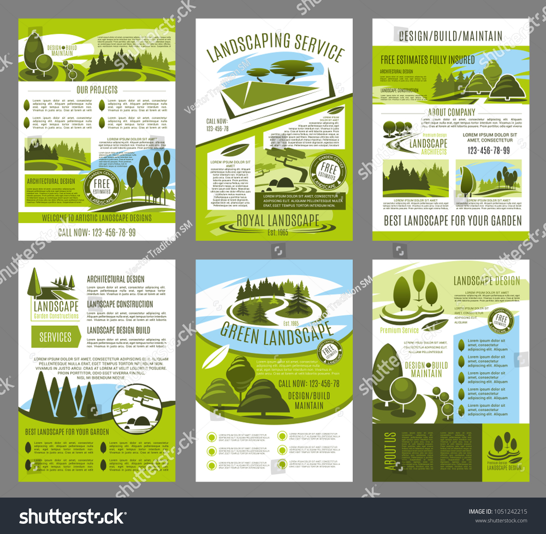 Stokovaya Vektornaya Grafika Landscape Design Green Garden Build Brochure Bez Licenzionnyh Platezhej 1051242215