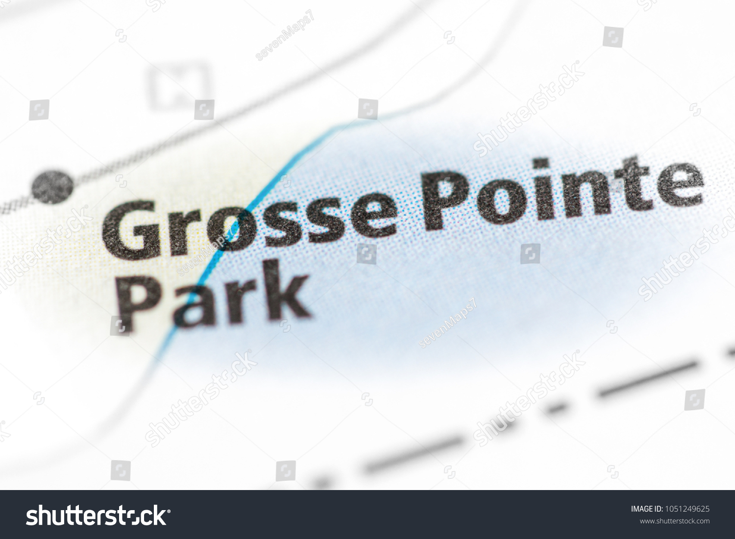 Grosse Point Michigan Map.Grosse Pointe Park Michigan Usa Stock Photo Edit Now 1051249625
