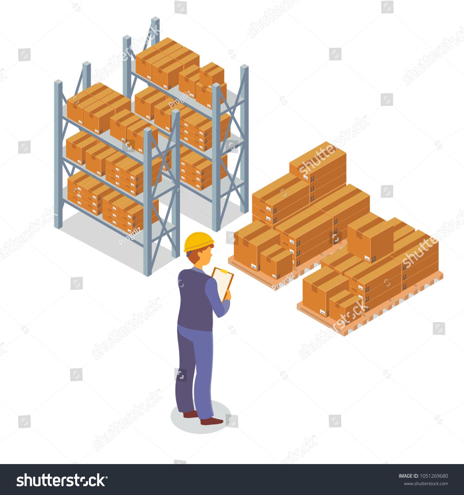 Isometric Box Cardboard Packaging Square Rectangular Stock