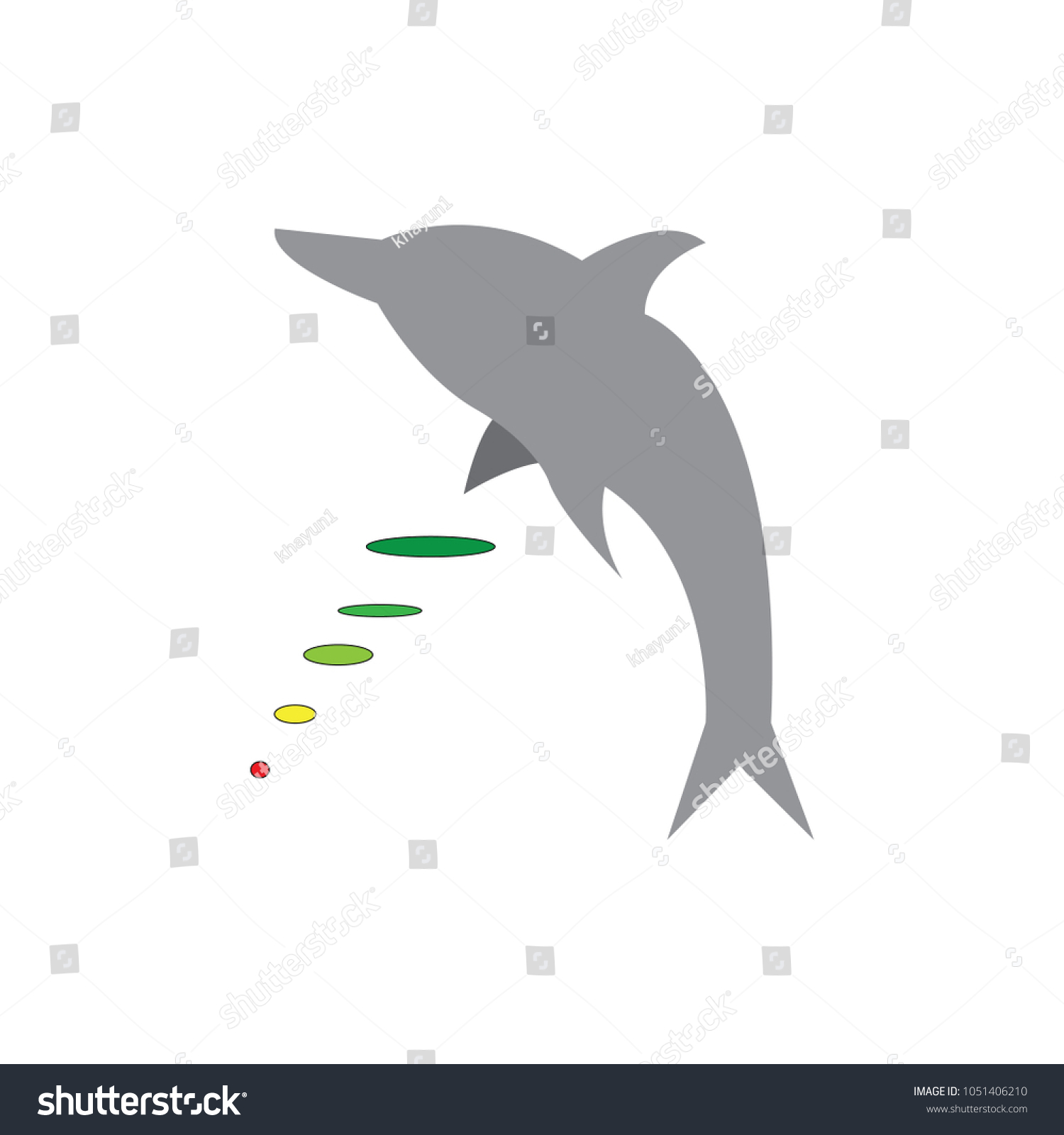 Dolphin Graphic Design Template Stock Vector (Royalty Free ...
