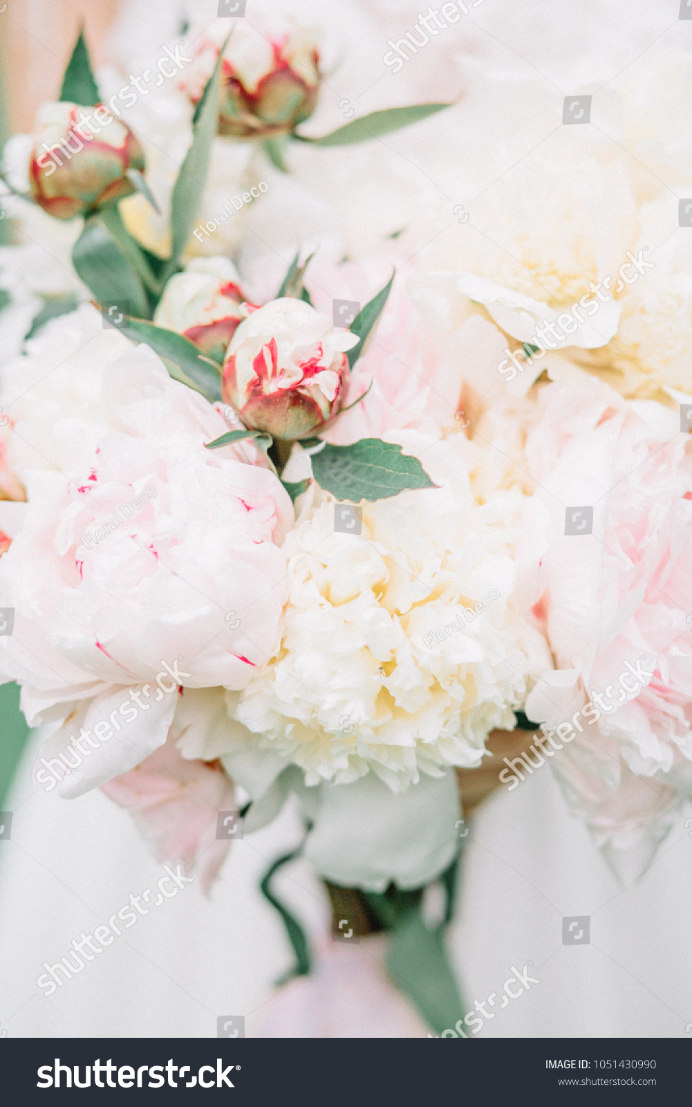 Beauty Wedding Bouquet Pink White Peony Stock Photo Edit Now