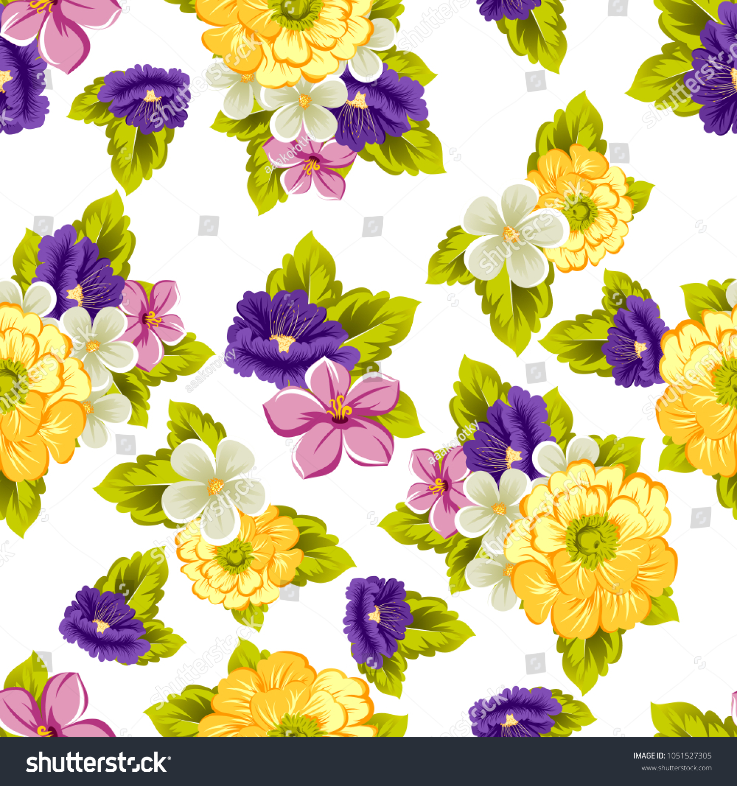 Beautiful elegant seamless pattern flowers your stock vector beautiful elegant seamless pattern of flowers for your fabrics design postcards greeting cards izmirmasajfo