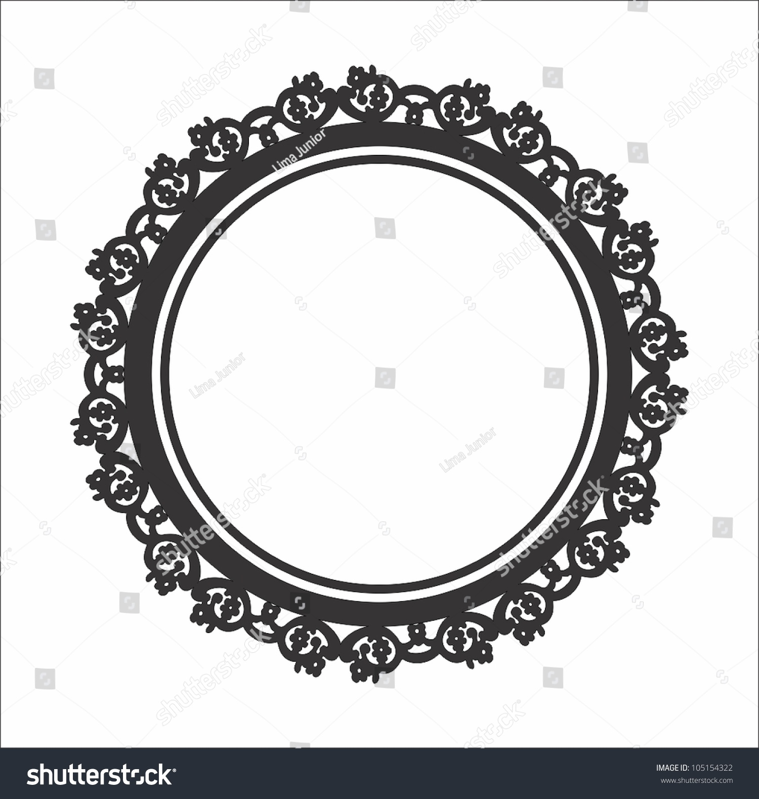 a elegant photo floral circle frame
