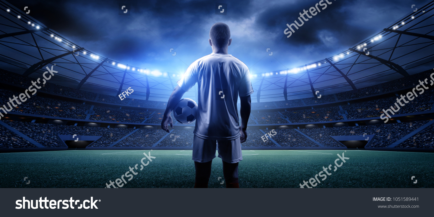 Football player in the stadium #1051589441