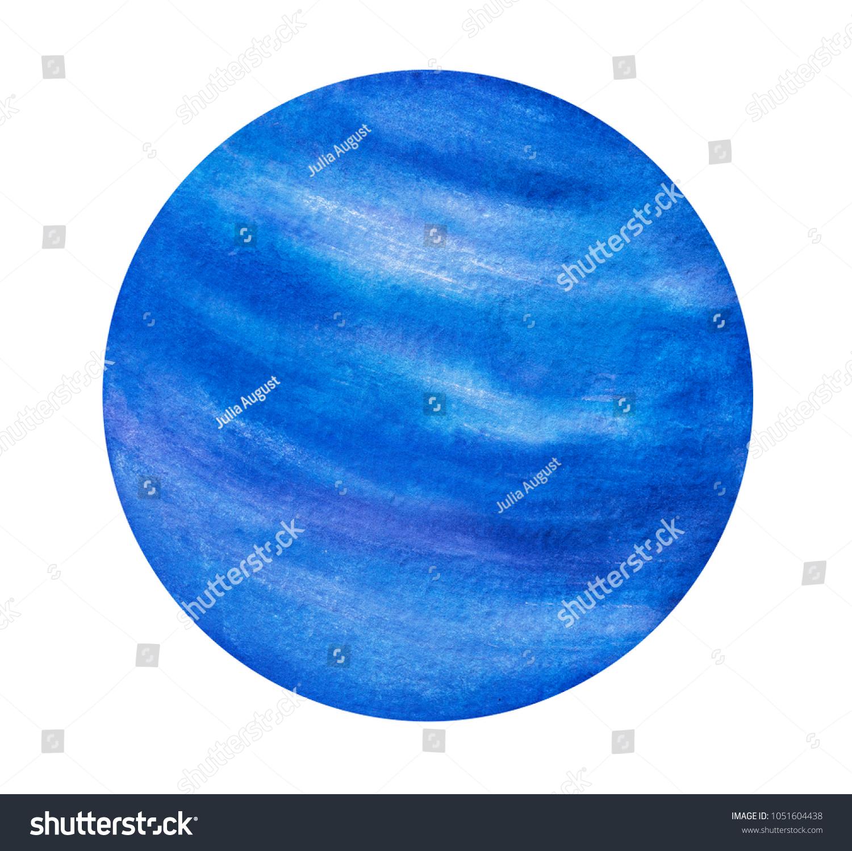 Neptune Planet Painting Symbol Dreams Mystery Stock Illustration