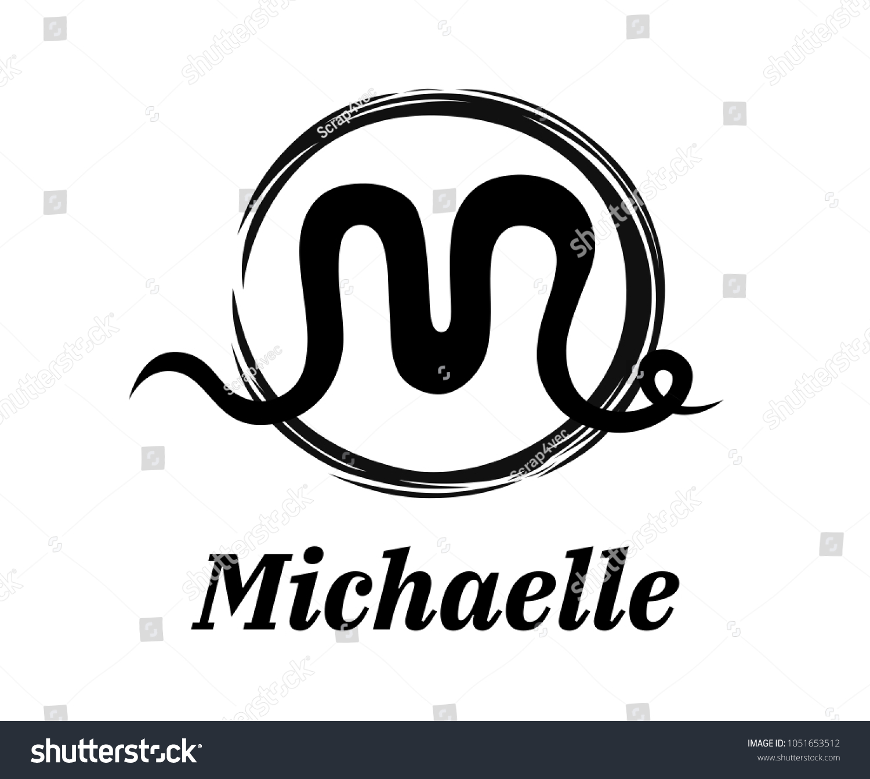 Abstract line logo symbol type letter stock vector 1051653512 abstract line logo symbol type letter m logo design idea illustration from painting brush with black buycottarizona Choice Image