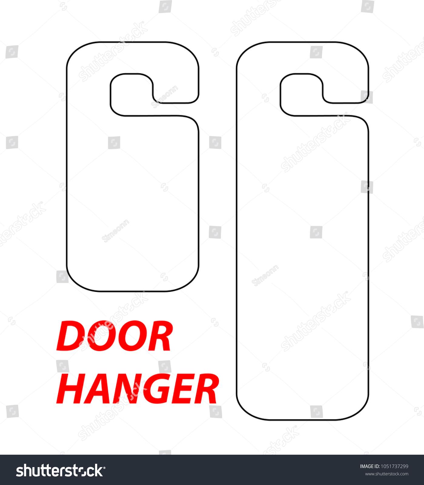 Hanger Die Cut Template Vector Black Stock Vector 1051737299 ...