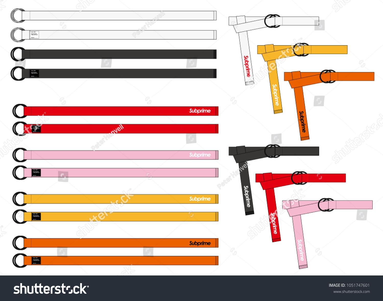belt set vector illustration flat sketches stock vector royalty