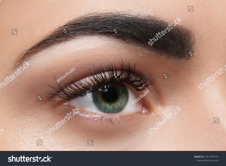 Young Woman Permanent Eyebrows Makeup Closeup Stock Photo Edit Now
