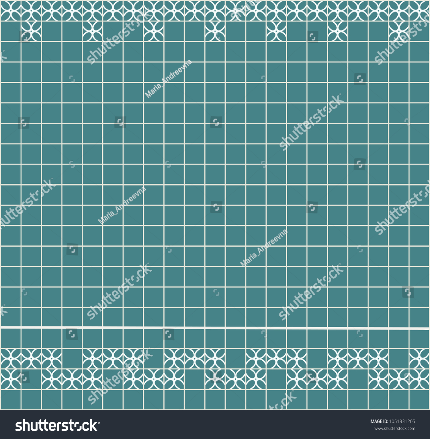 Tile Decoration Steal Teal Square Tiles Stock Vector 1051831205 ...