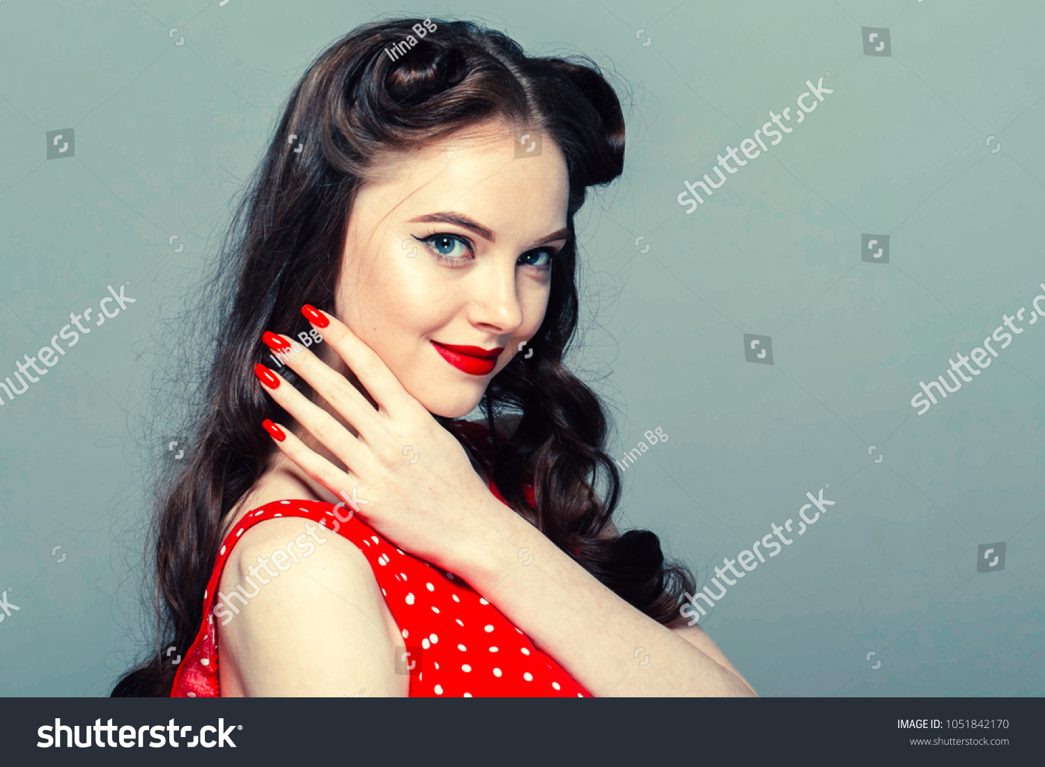 Pin Woman Vintage Beautiful Girl Pinup Stock Photo Edit Now