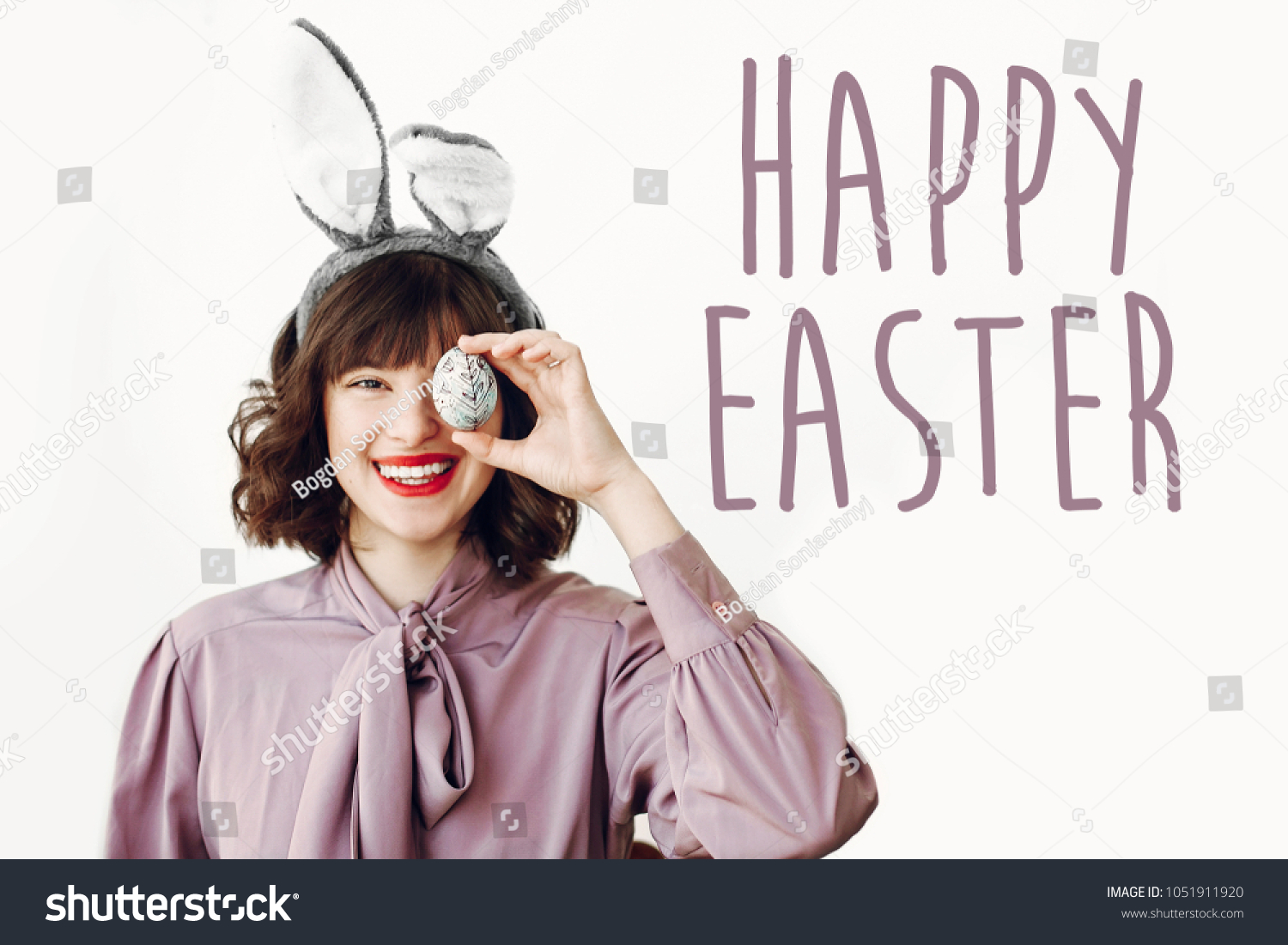 Happy Easter Text Seasons Greetings Card Stock Photo Edit Now