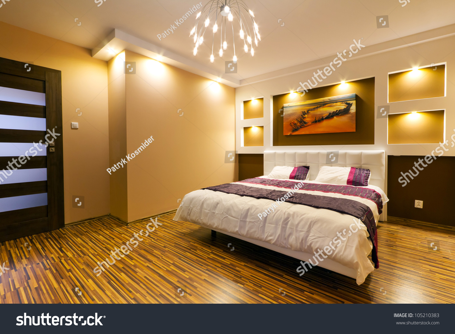 Modern Master Bedrooms Modern Master Bedroom Interior Picture Shipwreck Stock Photo