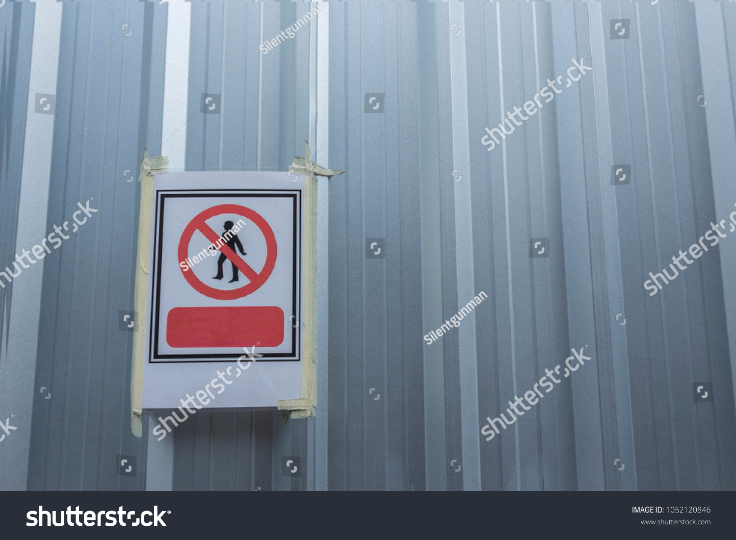sheet no entry sign on corrugated stock photo edit now 1052120846