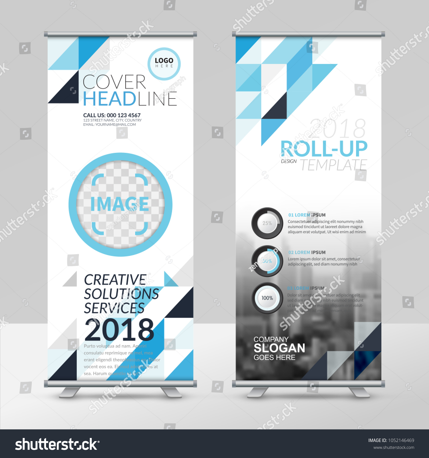 Business Roll Design Template X Stand Stock Vector 1052146469 ...