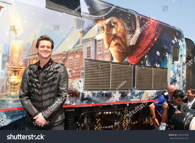 Jim Carrey Disneys Christmas Carol Train Stock Photo (Edit Now ...