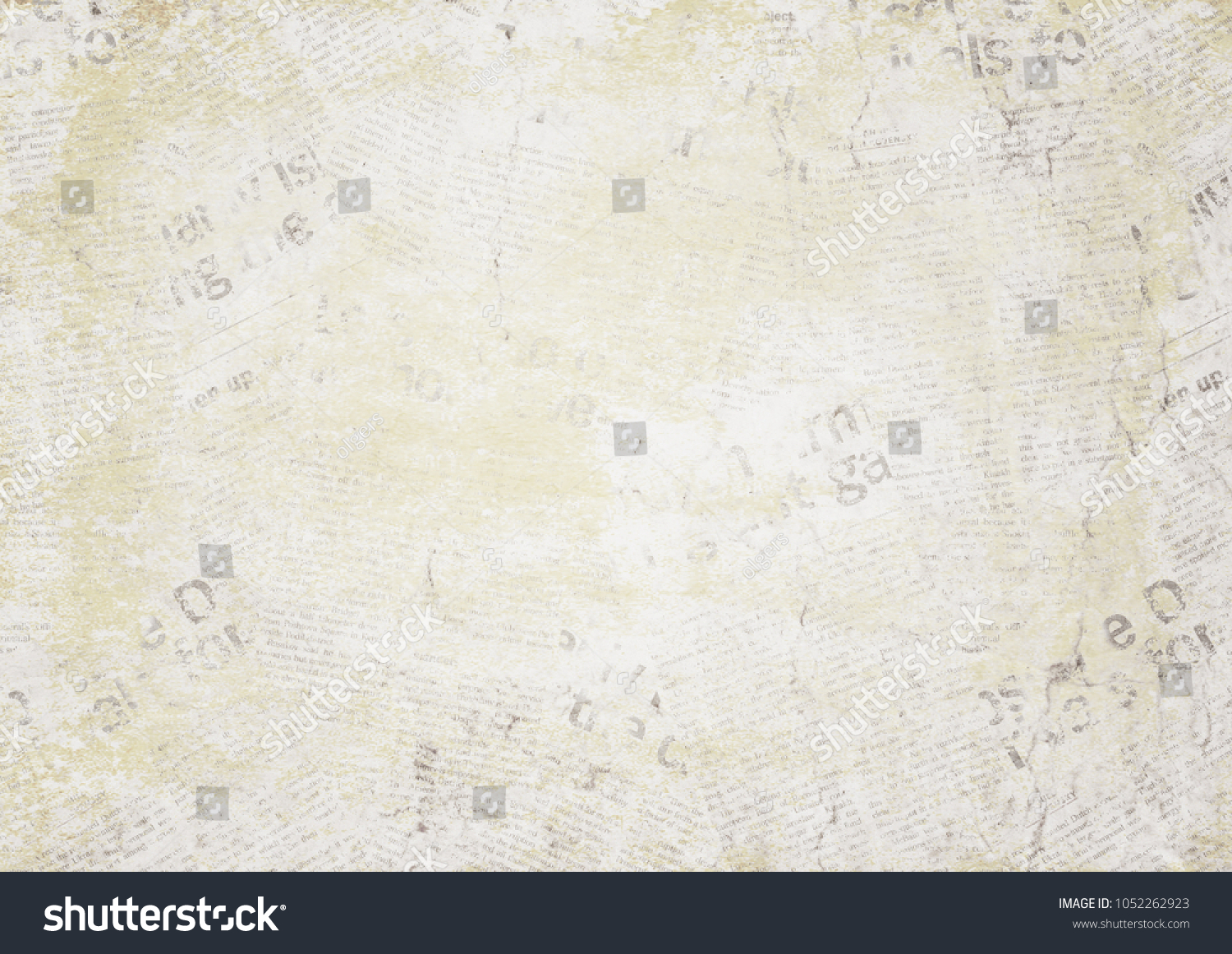 old newspaper paper grunge texture horizontal stock photo (edit now