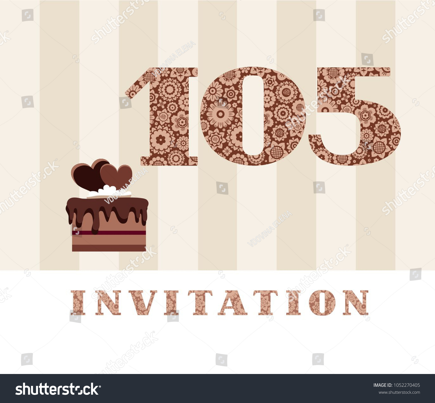 Invitation birthday party wedding anniversary color stock vector the invitation to the birthday party wedding anniversary color card chocolate cake with stopboris Images