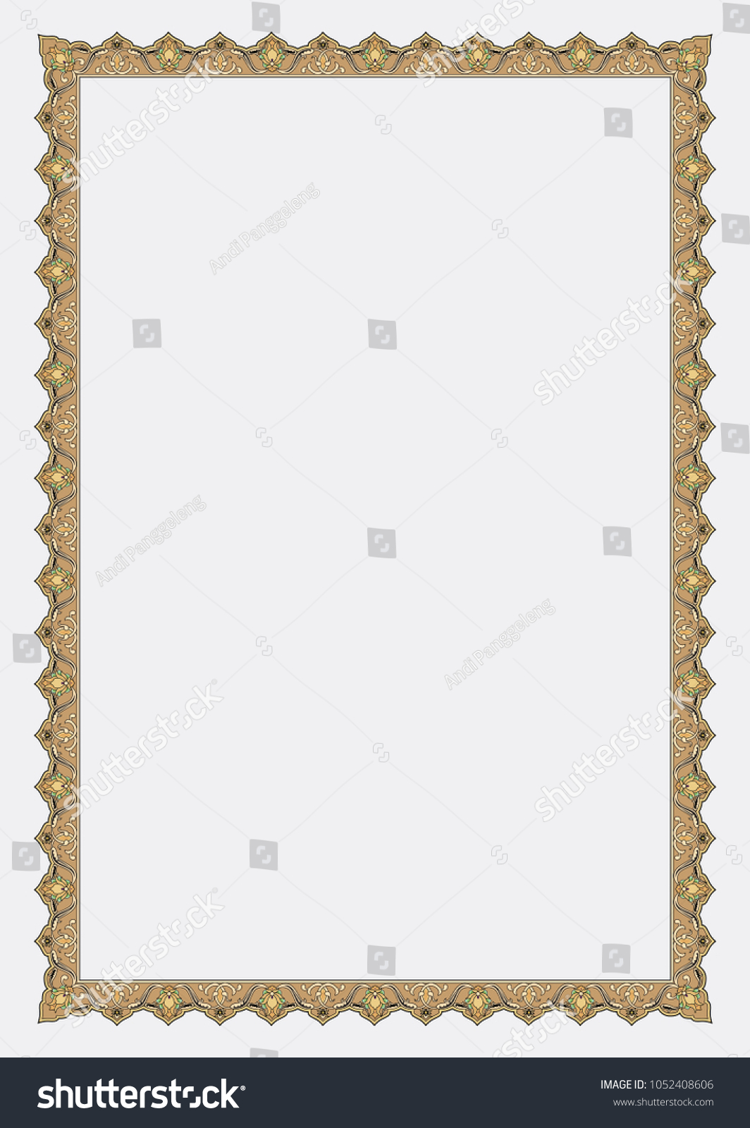 Islamic Page Book Frame Border Stock Vector (Royalty Free ...