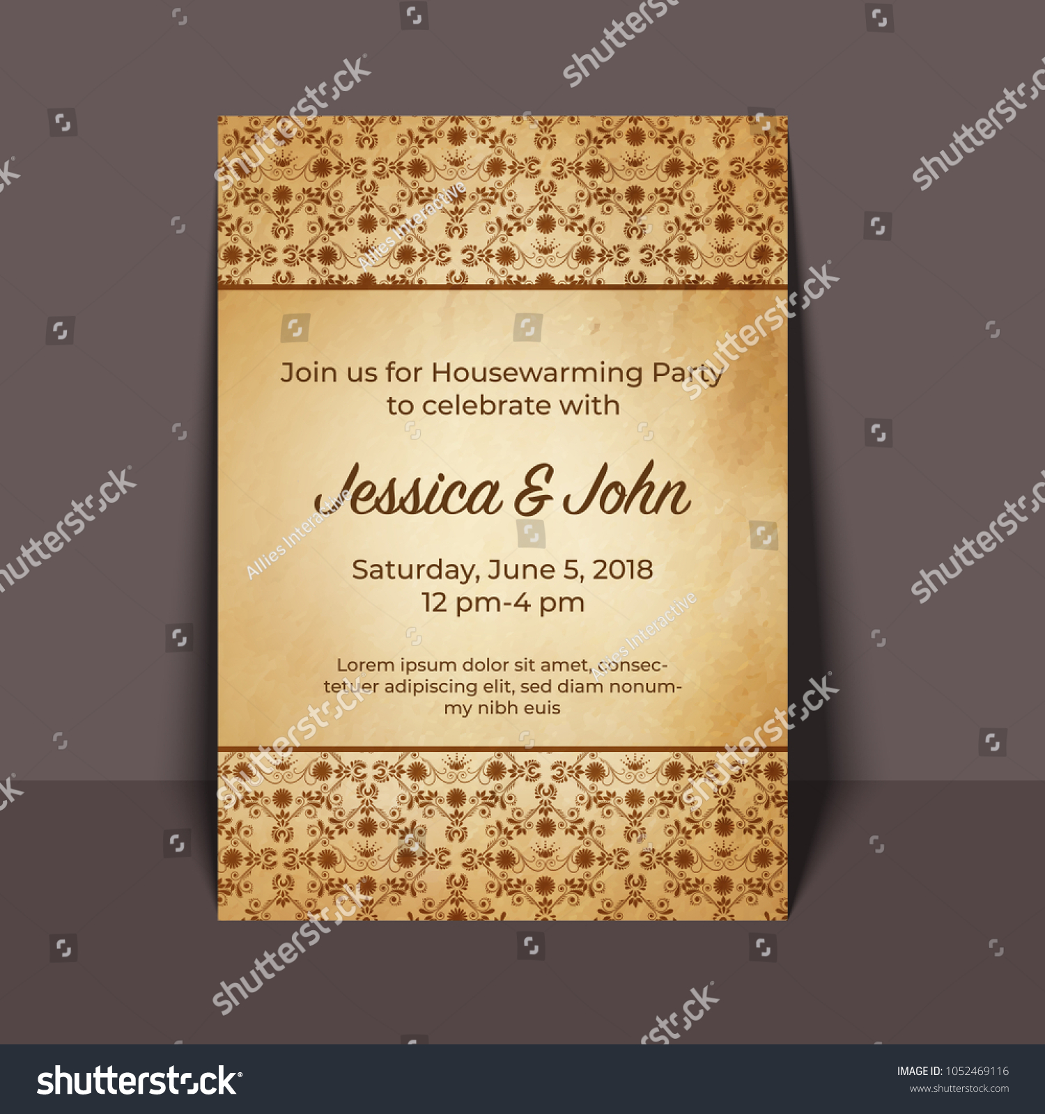 Housewarming party invitation card design stock vector 1052469116 housewarming party invitation card design stopboris Gallery