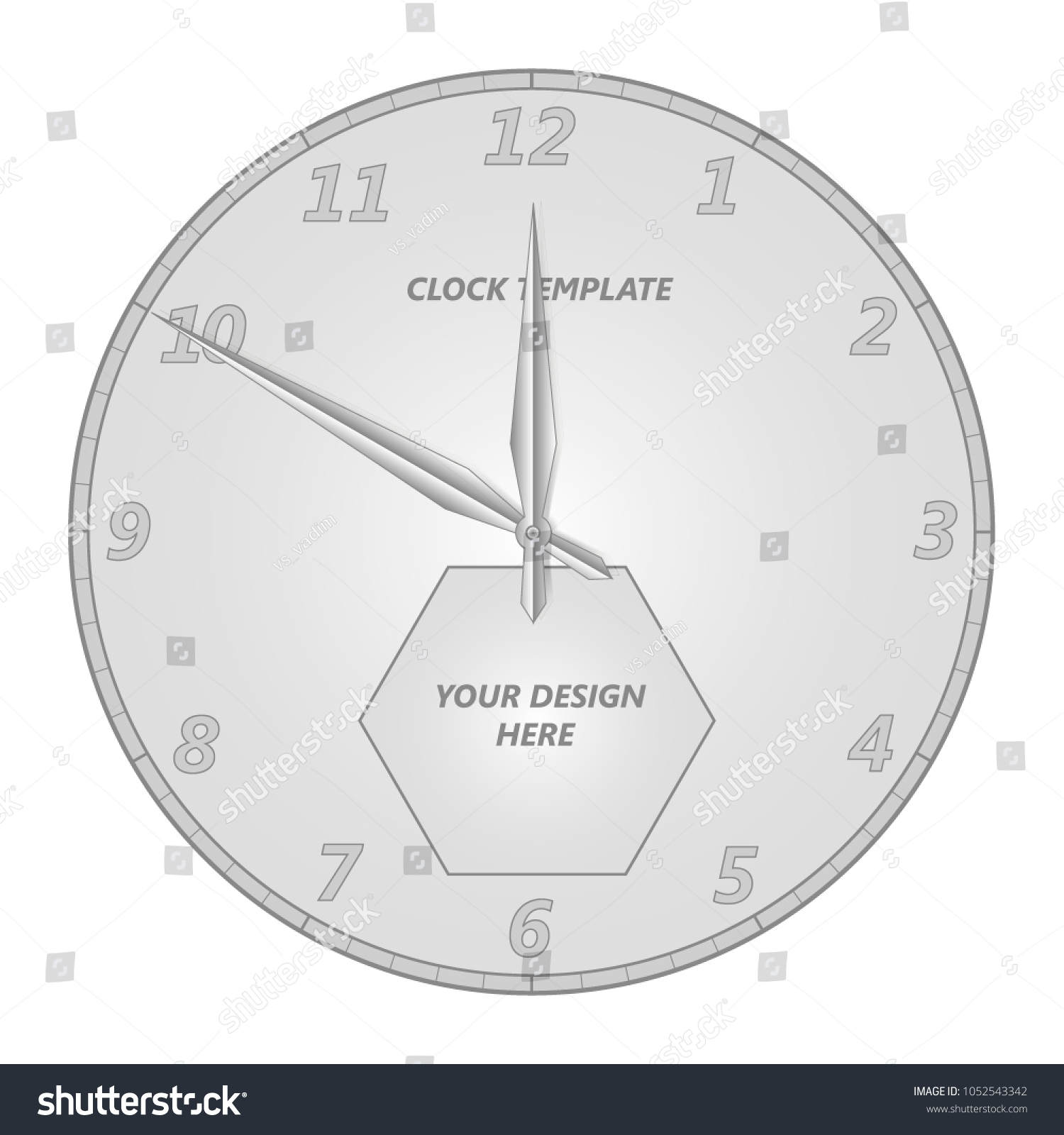Luxury Clock Template With Minutes Adornment - Documentation ...