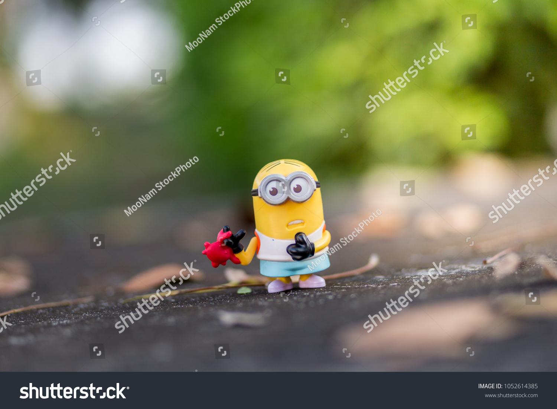 Bangkok Thailand Mar 2018 Minions Toy Mc Donalds Foto de stock ...