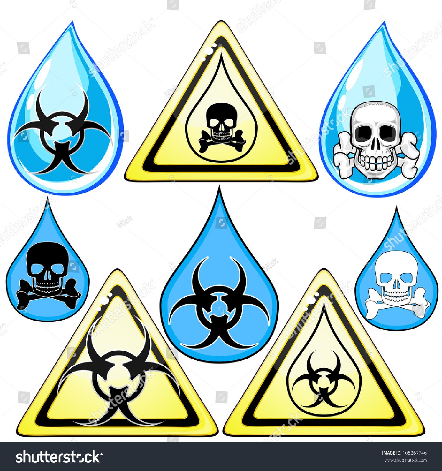 Set Signs Symbols Marking Poison Dirty Stock Illustration 105267746