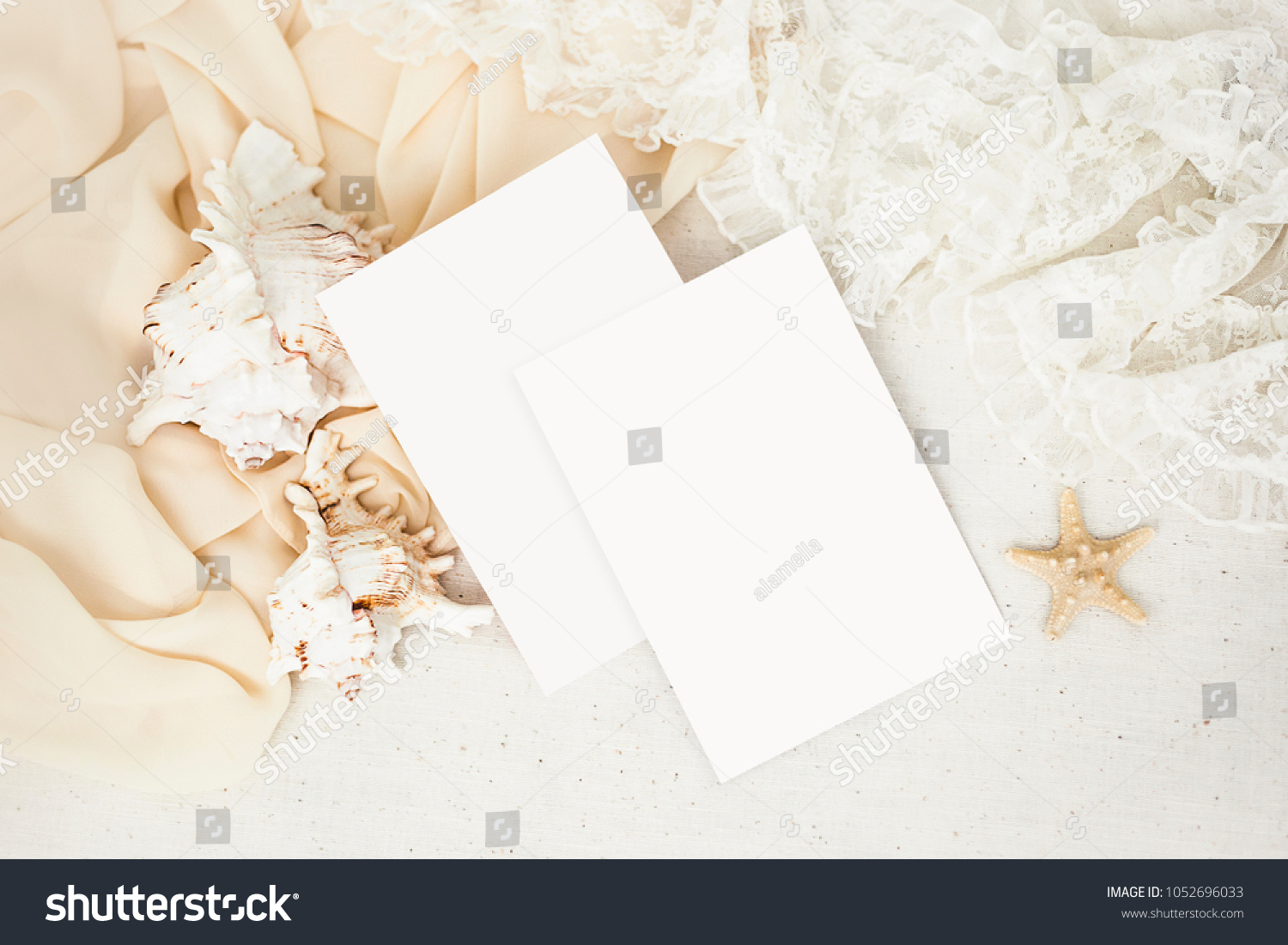 Pastel Mockup Wedding Invitation Greeting Cards Stock Photo (Edit ...